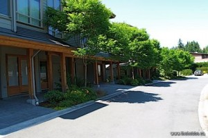 Serene Streetscape: The grounds of Bayside show a clear understanding of modern townhome landscape design. All maintenance is included so just relax and enjoy a Salt Spring lifestyle.